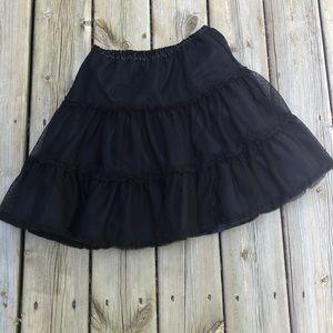 HANNA ANDERSSON: Black tulle full skirt sz 130